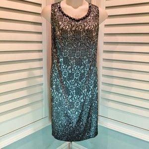 Lane Bryant Floral Lace Print Dress, 22, EUC